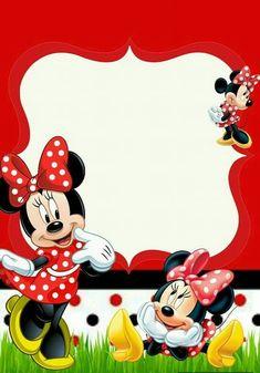 Fiesta de Minnie Mouse Roja: Manualiades, Centros de Minnie y más Mini Mouse 1st Birthday, Hello Kitty Birthday, Mickey Mouse Birthday, Minnie Mouse Party, Minnie Mouse Birthday Invitations, Printable Birthday Invitations, Minnie Mouse Roja, Disney Frames, Minnie Mouse Pictures