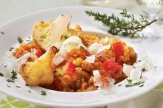 Linsenrisotto mit Blumenkohl und Curryschmand Rezept