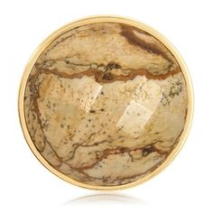 Nikki Lissoni Dome Faceted Picture Jasper Coin (A *personal* favorite!!) Nikki Lissoni medium gold-tone Dome Faceted Picture Jasper coin insert for interchangeable, personalized fashion and style. Fits into the Nikki Lissoni medium coin holder pendants.  Personalize your pendant with any of the available medium coins, and don't forget...the chains and pendant holders are available in various colors —gold, rose gold & silver! #necklace #pendant #jewelry #NikkiLissoni www.narvla.com