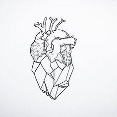 Recent geometric anatomical heart doodle. Something a little different.  • • • • • • #illustration#design#heart#doodle#sketch#sketchbook#handdrawn#creatives#vsco#linework#minimal#simple#geometric#blackwork#creativity#beautiful#rva#graphicdesign#tattoo#tattoodesign#anatomy#biology#anatomicalheart#adventure#explore#travel#betheadventure#fineliner