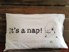 It's a Nap Pillowcase. $12.00, via Etsy. Tee hee.