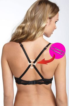 While finding the right size is half the battle, tricky necklines, falling straps, and poking underwires are just some of the problems every girl faces at one time or another. From tips for making your bras last longer and keeping your straps in place to tricks for converting a regular bra into a strapless or racerback style in a pinch, check out these genius hacks for solving all your biggest bra struggles.