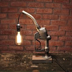 gas pump lamp edison bulb lampman cave lamp gift for dad