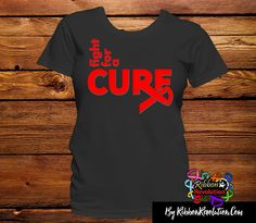 Red Ribbon Fight For A Cure Shirts