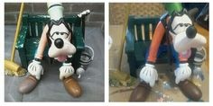 Disney collectie, garden, goofy got fresh paint