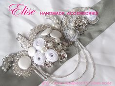headpiece for hijab bride , so pretty silver :)