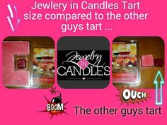 Jewelry in Candles Tart Size