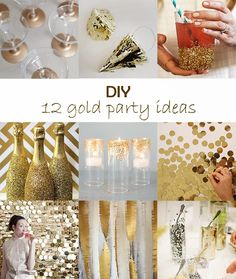 Ohoh Blog - diy and crafts: DIY Monday # Gold party ideas
