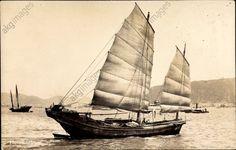 Segelboot Lighter in Hafennähe umgeben von Booten, Chinesische Dschunke akg-images / arkivi UG Date oeuvre 1935