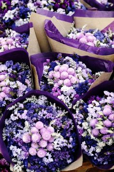 Purple flower bouquets.  Ciao, Chessa!: Fridays. Getting ready for spring at the Farmer's Market.
