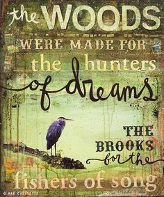 the WOODS...