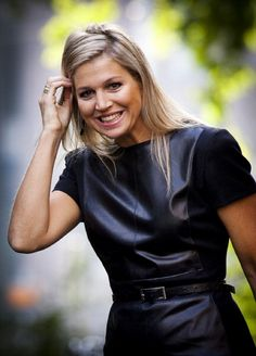 Dutch Princess Maxima attends the exhibition 'MixMax Brazil' at the Tropenmuseum Junior in Amsterdam on October 2, 2012.