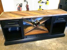 Wine Rack From Old TV Cabinet Using Pallet Wood - Furniture Idea