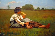 Winslow Homer - Boys in a Pasture at Boston Museum of Fine Arts by mbell1975, via Flickr