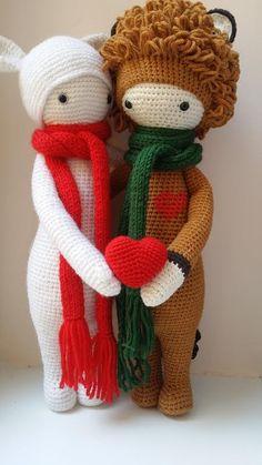 BINA the bear & LONI the lion made by Katja K. / crochet patterns by lalylala