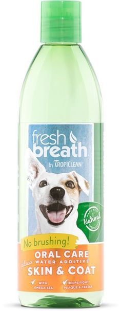 TropiClean Fresh Breath Plus Skin and Coat Oral Care Water Additive for Pets * You can get additional details at the image link. (This is an affiliate link and I receive a commission for the sales)