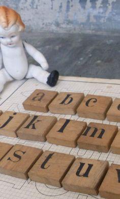 Boutique Nain.de.Jardin Lettres minuscules sur bois