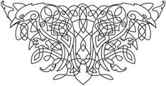 Celtic Majesty Ravens | Urban Threads: Unique and Awesome Embroidery Designs