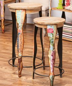 Take a look at this Boho Stool Set by Evergreen on #zulily today!