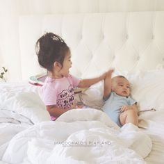 """My Toddler's """"Conversation"""" With Her Baby Brother. www.macdonaldsplayland.com #motherhood #kids #toddlers"""