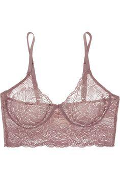 Hanro | Lulu stretch-Leavers lace soft-cup bra | NET-A-PORTER.COM