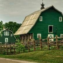 Big green barns