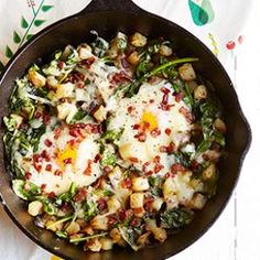 This Spinach & Cheese Breakfast Skillet is loaded with protein to kick start your day the right way.