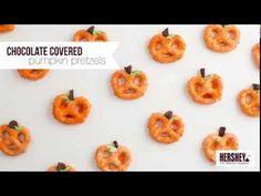 Chocolate Covered Pretzel Pumpkins - I Heart Nap Time
