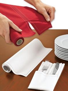 MYdrap Cotton Napkins tear off like paper, but are nicer and reusable.