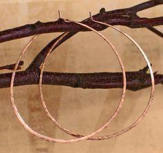 Delicate 14K Rose Gold Filled Hoop Earrings, Delicate Pink 14K Rose Gold Filled Hoops, Made to Order