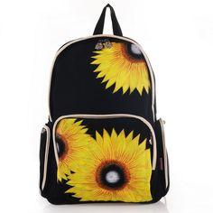 Sunflower shoulder handbags