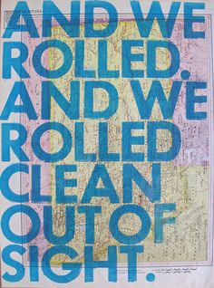 And We Rolled/  Montana by amyriceart on Etsy, $40.00
