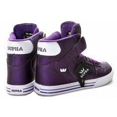 Supra Vaider High Tops Purple/White Men's #omg #iwant