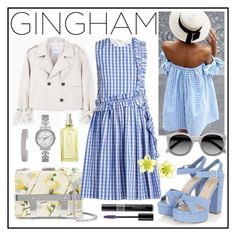 """""""Check Republic: Gingham Dress"""" by gogotasha ❤ liked on Polyvore featuring Alexander McQueen, MANGO, MSGM, Ace, Christian Dior, L'Occitane, Michael Kors, Humble Chic, Dsquared2 and gingham"""