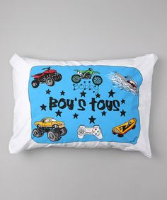 Take a look at this 'Boy's Toys' Personalized Standard Pillowcase by Bunnies and Bows on #zulily today!