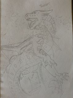 My tsunami drawing from wings of fire the books.
