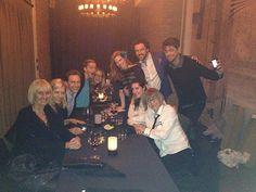 Tom Hiddleston at Jessica Chastain's birthday party.