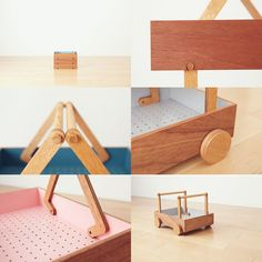 """Wagon Koloro, Inspired by the concept of """"storable furniture"""", the idea this time is light furniture that is not restricted to a specific place or purpose. http://torafu.com/works/koloro_wagon"""