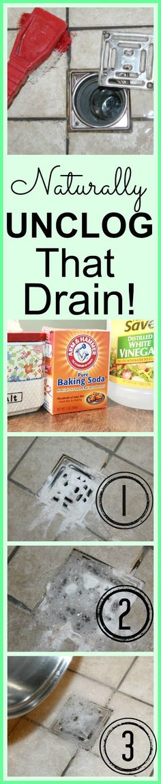 Naturally Unclog That Drain in 3 Simple Steps!