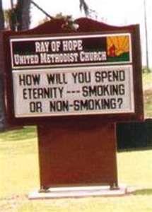 hehe funny church sign