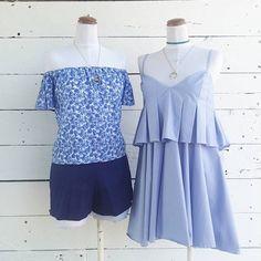 #milrayas #azul #offshoulder #vestido #casual #cincoboutique #tendencias #cancun #tendencias #choker