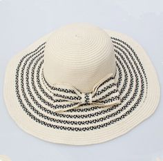 how to embroider on straw hat - Google Search