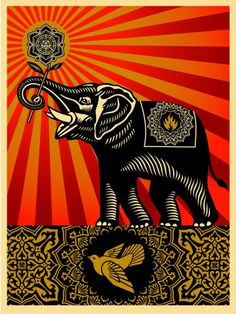 ☯☮ॐ American Hippie Psychedelic Art ~ OBEY Shepard Fairey street artist . revolution OBEY style, street graffiti, illustration and design posters ~ Elephant Kunst Poster, Poster S, Print Poster, Illustration Photo, Illustrations, Art Obey, Shepard Fairey Art, Pop Art, Plakat Design