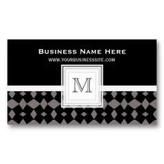 Black Weave : Monogram Business Card