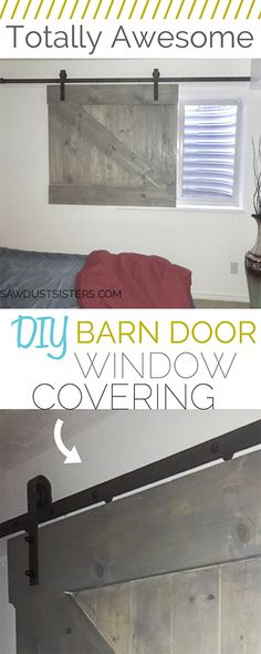 I never thought of using a barn door window cover! I LOVE this idea!!