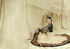 Unstitched Anarkali Dress with Dupatta