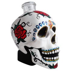 Handpainted Skull Decanter from MODSHOP - Hunters Alley