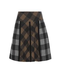 Etro Plaid Wool Skirt For Spring-Summer 2017