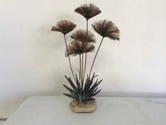 Mid Century Modern Jere Style Sculpture $160 Please email if you are interested in checking out the piece. 16D x 17W. x 29H Follow me on Instagram - vintage_supply Keywords: Milo Baughman Italian...