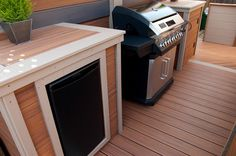 #Trex can be used for more than just decking, as seen in this #outdoorkitchen made from Transcend deck boards.